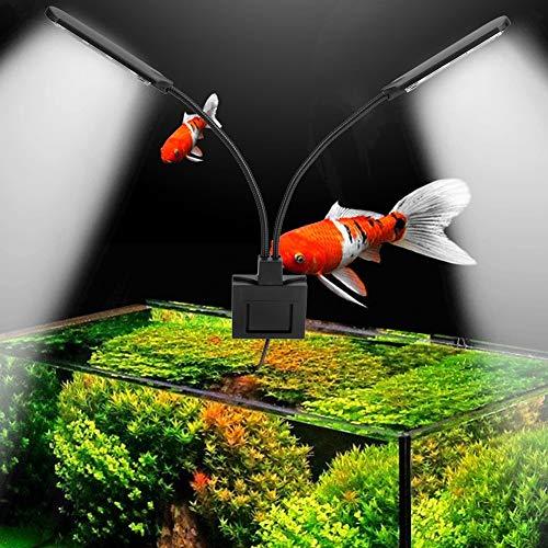 Pssopp - Luce LED per acquario, per piante acquari, 15 W, con clip